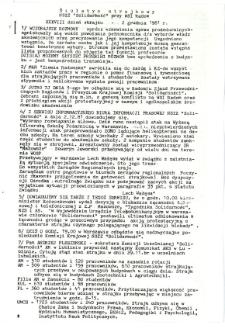 Biuletyn Strajkowy NSZZ Solidarność przy WSI w Radomiu, 1981-12-02