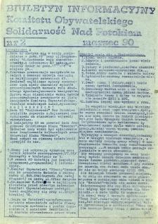 """Biuletyn Informacyjny Komitetu Obywatelskiego """"Solidarność"""" Nad Potokiem, R. 1990, nr 2"""