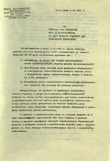 Przeprowadzona w dniu 5.11.1981 r. wizja lokalna ...