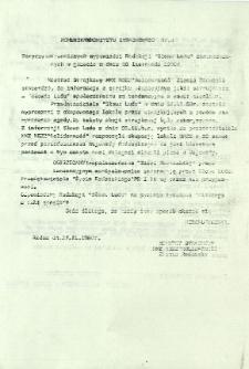 Komunikat Komitetu Strajkowego nr 4