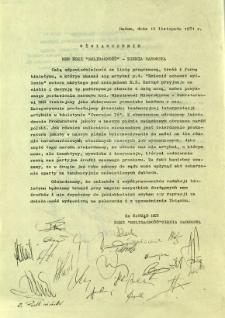 Oświadczenie MKR NSZZ Solidarność - Ziemia Radomska