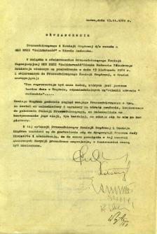 Oświadczenie Przewodniczącego i Komisji Rządowej ...