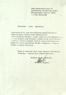 Treść przerwanego przez MO przemówienia pod Kamieniem Ludzi Skrzywdzonych w Czerwcu 1976 r. - z dnia 25 czerwca 1988 r.