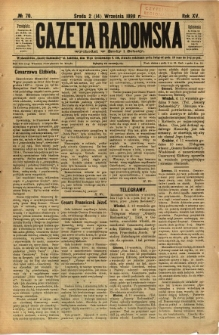 Gazeta Radomska, 1898, R. 15, nr 70