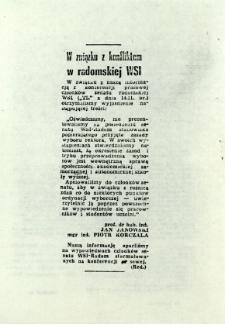 W związku z konfliktem w radomskiej WSI