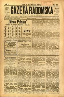 Gazeta Radomska, 1898, R. 15, nr 72