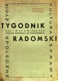 Tygodnik Radomski, 1933, R. 1, nr 2
