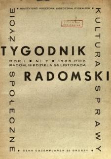 Tygodnik Radomski, 1933, R. 1, nr 7