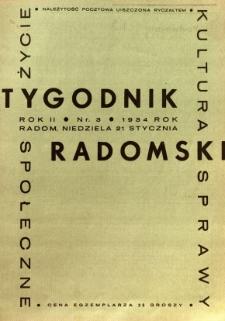 Tygodnik Radomski, 1934, R. 2, nr 3