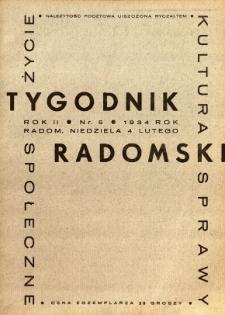 Tygodnik Radomski, 1934, R. 2, nr 5