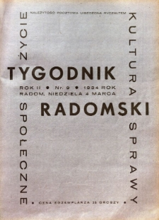 Tygodnik Radomski, 1934, R. 2, nr 9