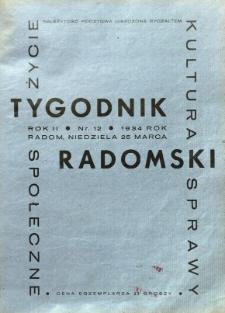 Tygodnik Radomski, 1934, R. 2, nr 12