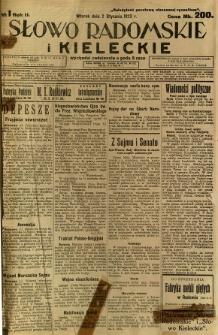 Słowo Radomskie i Kieleckie, 1923, R.2, nr 1