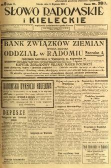 Słowo Radomskie i Kieleckie, 1923, R.2, nr 5