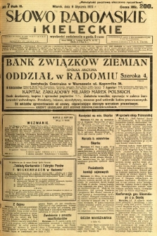Słowo Radomskie i Kieleckie, 1923, R.2, nr 7
