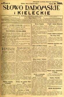 Słowo Radomskie i Kieleckie, 1923, R.2, nr 11