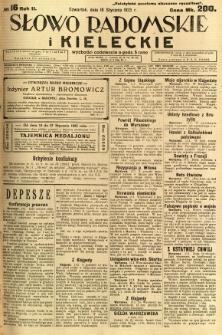 Słowo Radomskie i Kieleckie, 1923, R.2, nr 16