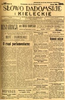 Słowo Radomskie i Kieleckie, 1923, R.2, nr 20