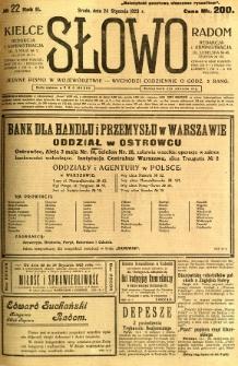 Słowo, 1923, R.2, nr 22