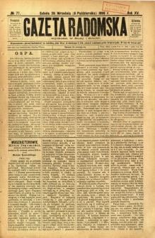 Gazeta Radomska, 1898, R. 15, nr 77