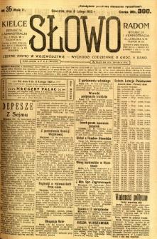 Słowo, 1923, R. 2, nr 35