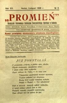 Promień, 1928, R. 13, nr 3