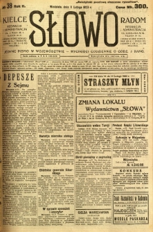 Słowo, 1923, R. 2, nr 38