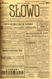 Słowo, 1923, R. 2, nr 62