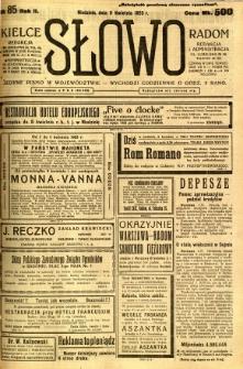 Słowo, 1923, R. 2, nr 85