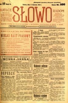 Słowo, 1923, R. 2, nr 89