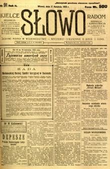 Słowo, 1923, R. 2, nr 91