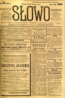 Słowo, 1923, R. 2, nr 96