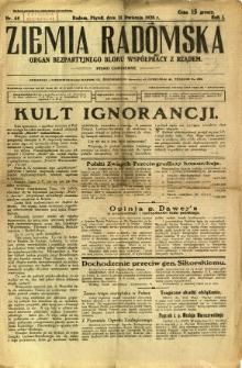 Ziemia Radomska, 1928, R. 1, nr 44
