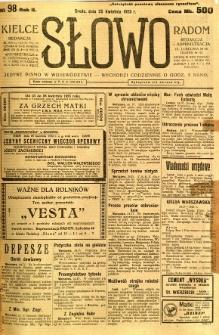 Słowo, 1923, R. 2, nr 98