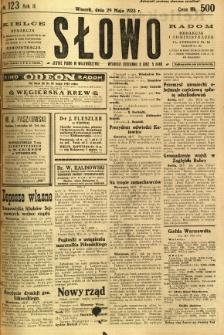 Słowo, 1923, R. 2, nr 123