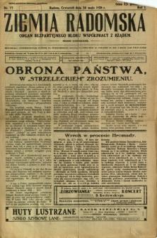 Ziemia Radomska, 1928, R. 1, nr 77