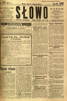 Słowo, 1923, R. 2, nr 135