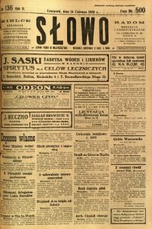 Słowo, 1923, R. 2, nr 136