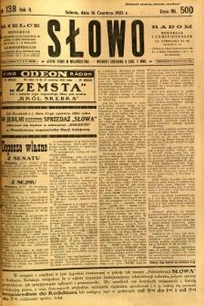 Słowo, 1923, R. 2, nr 138