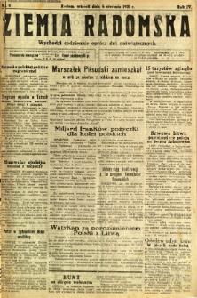 Ziemia Radomska, 1931, R. 4, nr 4
