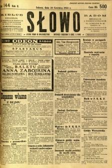 Słowo, 1923, R. 2, nr 144