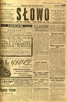 Słowo, 1923, R. 2, nr 145