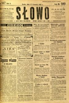 Słowo, 1923, R. 2, nr 147