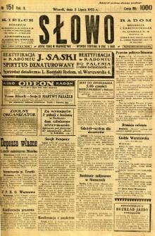 Słowo, 1923, R. 2, nr 151