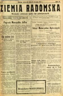 Ziemia Radomska, 1931, R. 4, nr 5