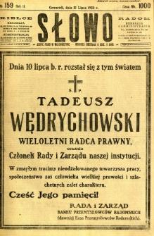 Słowo, 1923, R. 2, nr 159