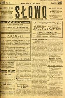 Słowo, 1923, R. 2, nr 169