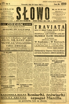 Słowo, 1923, R. 2, nr 171
