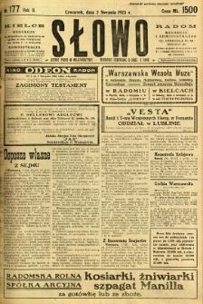 Słowo, 1923, R. 2, nr 177