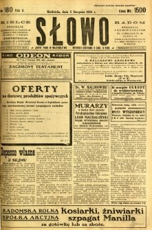 Słowo, 1923, R. 2, nr 180